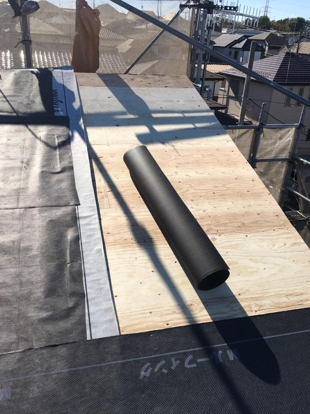 既存屋根撤去後 構造用合板12㎜増し張り ゴムアス下地張り