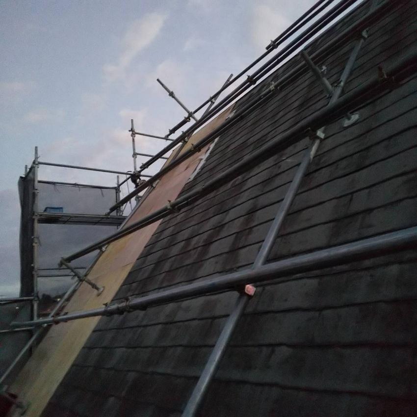 屋根下地部分調整